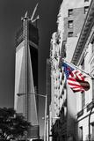 World Trade Center Globe Avec La Tour One World Center En Construction Reproduction photographique par Philippe Hugonnard
