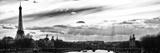 Puesta de sol en el puente Alejandro III, Torre Eiffel, París Lámina fotográfica prémium por Philippe Hugonnard
