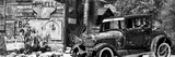 Veduta panoramica di una vecchia stazione di benzina, Route 66 II Stampa fotografica di Philippe Hugonnard