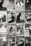 Anciennes Cartes Postales Publicitaires Françaises, Rue Des Saules À Montmartre IV Reproduction photographique par Philippe Hugonnard