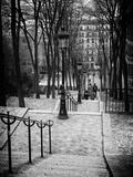 Treppenaufgang Montmartre, Paris, Frankreich Fotografie-Druck von Philippe Hugonnard