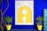 Dekoration im Jardin Majorelle, Marrakesch Fotografie-Druck von Philippe Hugonnard