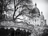 Carousel 18th century - Sacré-Cœur Basilica - Montmartre - Paris - France Photographic Print by Philippe Hugonnard