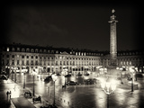 Place Vendome by Night - Paris - France Photographic Print by Philippe Hugonnard