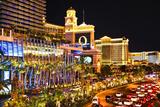 Udsigt til Vegas Strip om natten, Nevada VIII Fotografisk tryk af Philippe Hugonnard