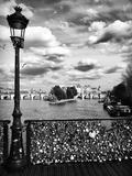 The Seine River - Pont des Arts - Paris Fotografisk tryk af Philippe Hugonnard