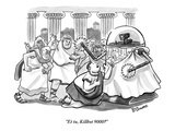 """Et tu, Killbot 9000"" - New Yorker Cartoon Premium Giclee Print by Benjamin Schwartz"