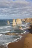 Coastline, 12 Apostles, Great Ocean Road, Port Campbell Np, Victoria, Australia Stampa fotografica di Martin Zwick