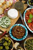 Maltese Appetizer Gbejniet, Capers, Tomatoes, Olives, Maltese Cuisine, Malta Impressão fotográfica por Nico Tondini