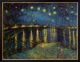 Noite estrelada sobre o Ródano, cerca de 1888 Pôsters por Vincent van Gogh