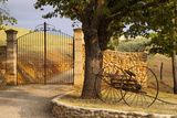 Dawn at Gated Entrance to Farm Near Greoux-Les-Bains, Provence, France Photographic Print by Brian Jannsen
