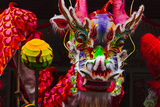 Dragon Dance Celebrating Chinese New Year in China Town, Manila, Philippines Photographic Print by Keren Su
