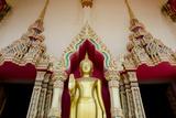 Buddhist Temple and Golden Buddha Statue, Wat Plai Laem, Ko Samui, Thailand Photographic Print by Cindy Miller Hopkins