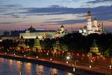 Dusk at the Kremlin, Moscow, Russia Reproduction photographique par Kymri Wilt