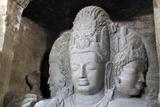 Mahesamurti of Elephant Island Caves, Mumbai, India Reproduction photographique par Kymri Wilt