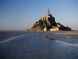 View of Mont Saint-Michel, Normandy, France Reproduction photographique par David Barnes