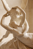Canova's Statue 'Psyche Revived by Cupid's Kiss' Musee Du Louvre, Paris, France Fotografie-Druck von Brian Jannsen
