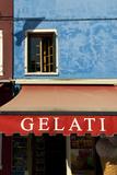 A Storefront on the Island of Burano, Venice, Italy Fotografisk trykk av David Noyes