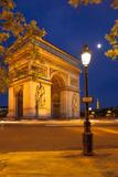 Twilight at Arch De Triomphe, Paris, France Fotografisk trykk av Brian Jannsen