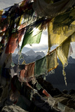 Prayer Flags on Summit of Gokyo Ri, Everest Region, Mt Everest, Nepal Photographic Print by David Noyes