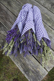 Wrapped Bouquets of Dried Lavender at Lavender Festival, Sequim, Washington, USA Photographic Print by John & Lisa Merrill