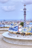 Park Guell Terrace, Barcelona, Spain Reproduction photographique par Rob Tilley
