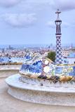 Park Guell Terrace, Barcelona, Spain Fotografisk trykk av Rob Tilley