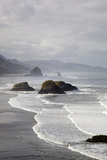 Cannon Beach and Haystack Rock, Crescent Beach, Ecola State Park, Oregon, USA Impressão fotográfica por Jamie & Judy Wild