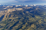 Aerial of the Rocky Mountain Front in Montana, USA Stampa fotografica di Chuck Haney