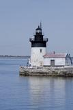 Detroit River Lighthouse, Wyandotte, Detroit River, Lake Erie, Michigan, USA Reproduction photographique par Cindy Miller Hopkins