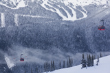 Skiing Gondola, Whistler to Blackcomb, British Columbia, Canada Photographic Print by Walter Bibikow