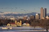 City Skyline from City Park, Denver, Colorado, USA Fotografisk trykk av Walter Bibikow