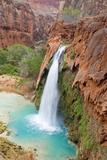 Havasu Waterfall on the Havasupai Reservation in Arizona, USA Photographic Print by Chuck Haney