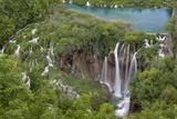 Plitvice Lakes in the National Park Plitvicka Jezera, Croatia Fotografisk trykk av Martin Zwick