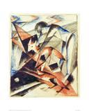 Noah and the fox Giclée-tryk af Franz Marc