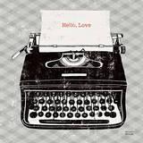 Vintage Analog Typewriter Plakater av Michael Mullan