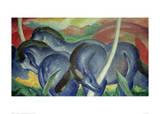 Large Blue Horses, 1911 Gicléetryck av Franz Marc