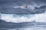 Windsurfing on the Ocean at Sunset, Maui, Hawaii, USA Lámina fotográfica por Gerry Reynolds