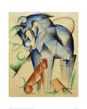 Mythical Creatures Horse and Dog Giclée-tryk af Franz Marc
