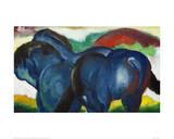 Small Blue Horses 1911 Reproduction procédé giclée par Franz Marc