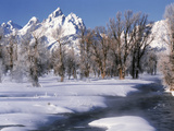 Grand Teton National Park Covered in Snow, Wyoming, USA Photographic Print by Scott T. Smith