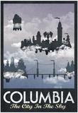 Columbia Retro Travel Poster Plakater