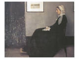 Arrangement In Grey and Black, No.1: Portrait Of The Artist's Mother Premium Giclée-tryk af James Abbott McNeill Whistler