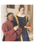 Estienne Chevalier With St. Stephen Premium Giclee Print by Jean Fouquet