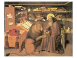Saint Jerome In His Study Premium Giclée-tryk af Niccolo Antonio Colantonio