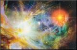 Birth of a Star Druck aufgezogen auf Holzplatte
