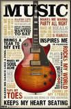 Music Inspires Me Affiche montée sur bois