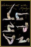 Marilyn Monroe (Working Out) Movie Poster Print Impressão montada
