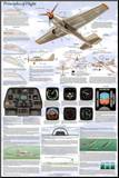 Principles of Flight Aerodynamic Educational Science Chart Poster Mounted Print