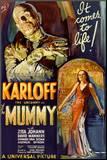 The Mummy Movie Boris Karloff, It Comes to Life Poster Print Impressão montada
